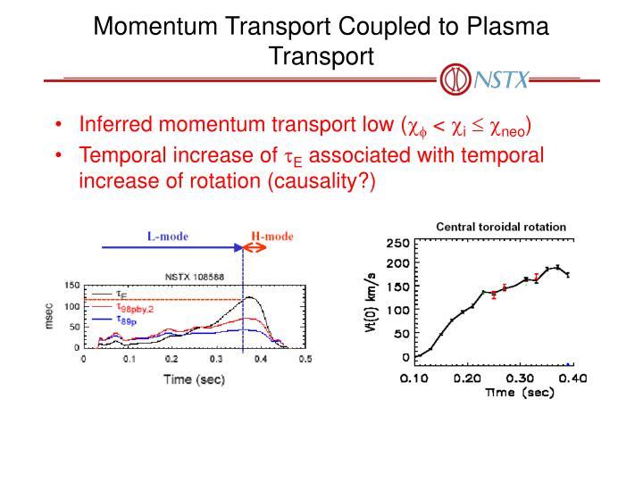 Momentum Transport Coupled to Plasma Transport