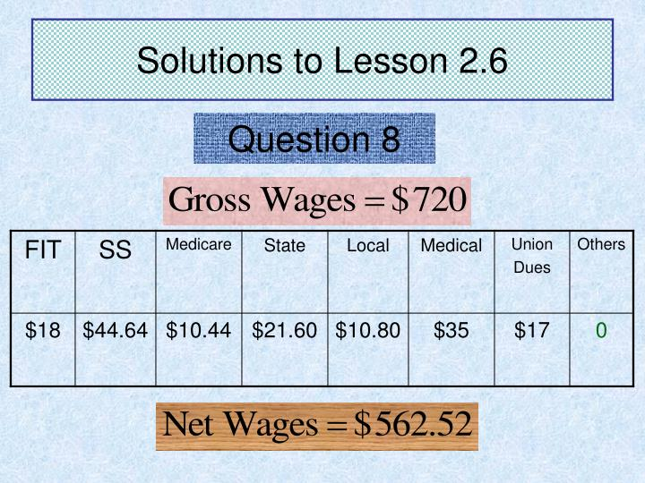 Solutions to Lesson 2.6