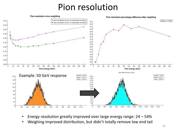 Pion resolution