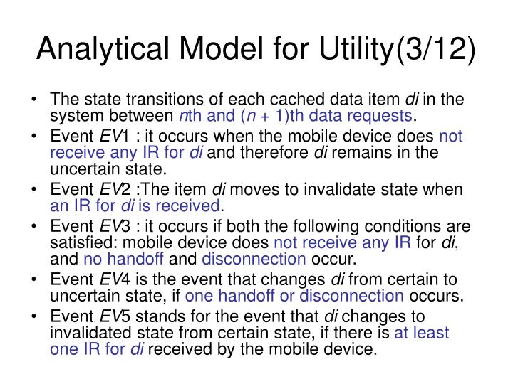 Analytical Model for Utility