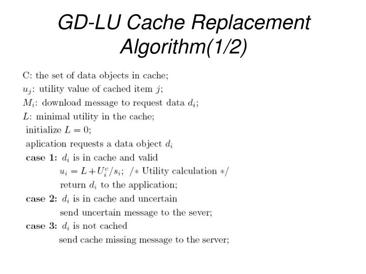 GD-LU Cache Replacement Algorithm