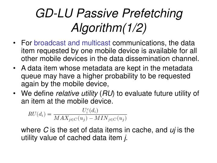 GD-LU Passive Prefetching Algorithm(1/2)