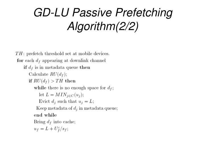 GD-LU Passive Prefetching Algorithm(2/2)