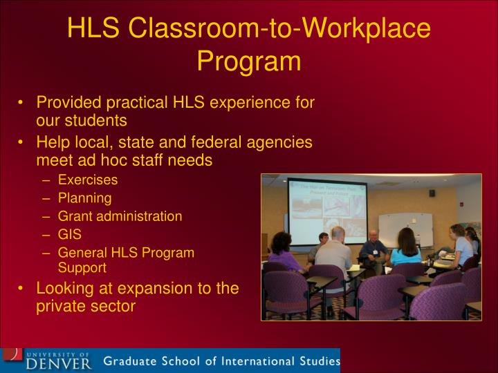 HLS Classroom-to-Workplace Program