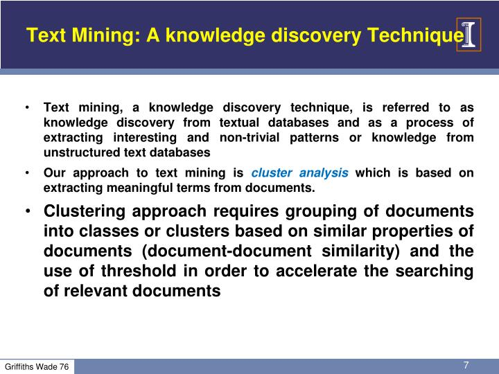 Text Mining: A knowledge discovery Technique