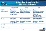 extended benchmarks physical science