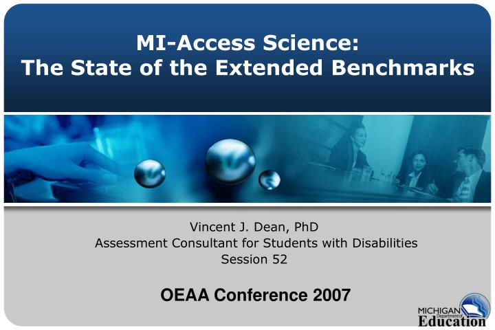 mi access science the state of the extended benchmarks