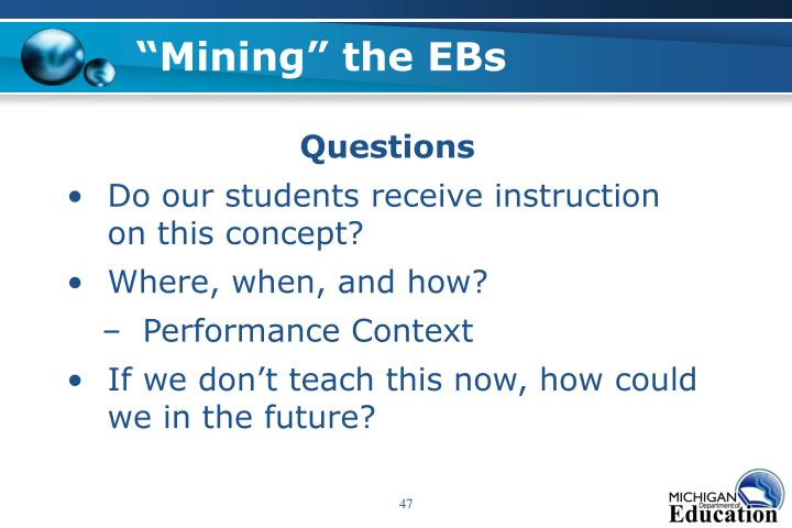 """Mining"" the EBs"