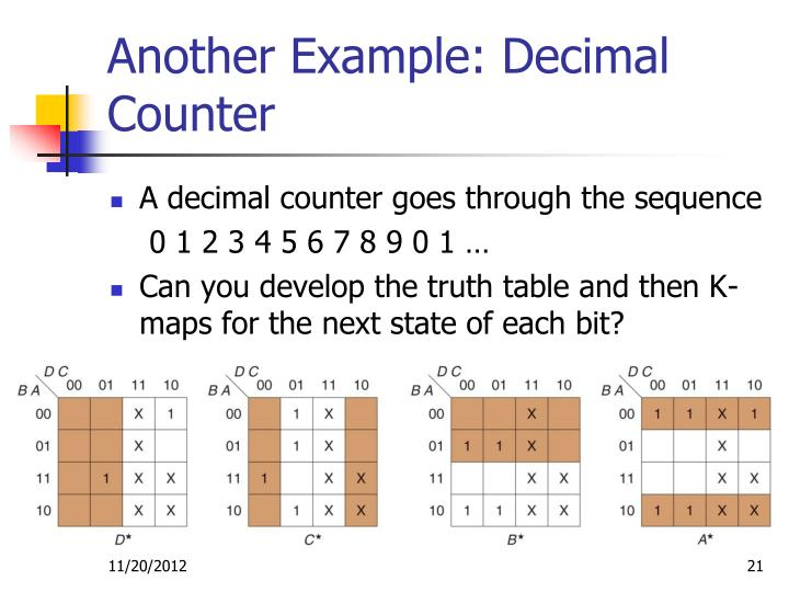 Another Example: Decimal Counter