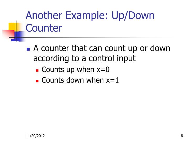 Another Example: Up/Down Counter