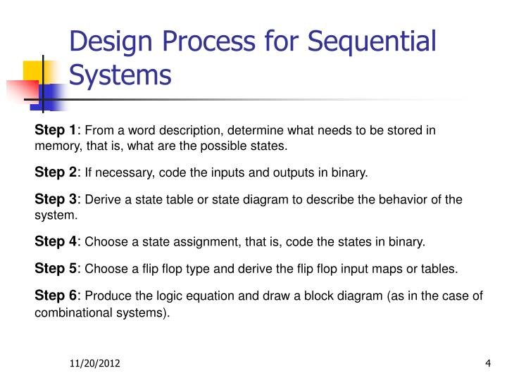 Design Process for Sequential Systems
