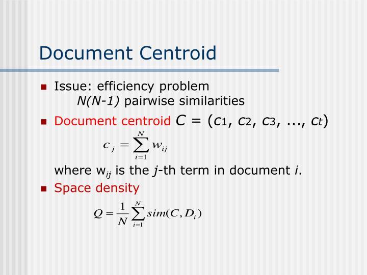 Document Centroid