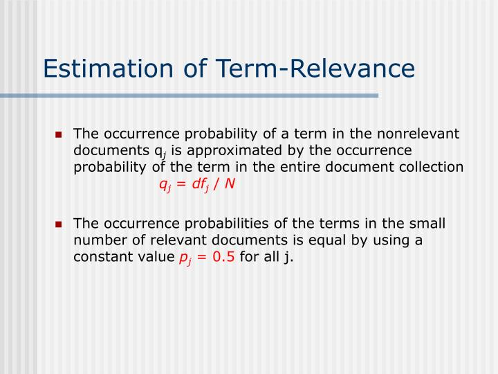 Estimation of Term-Relevance