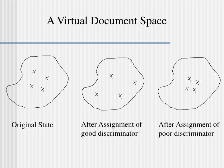A Virtual Document Space