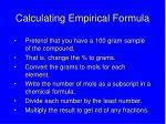 calculating empirical formula
