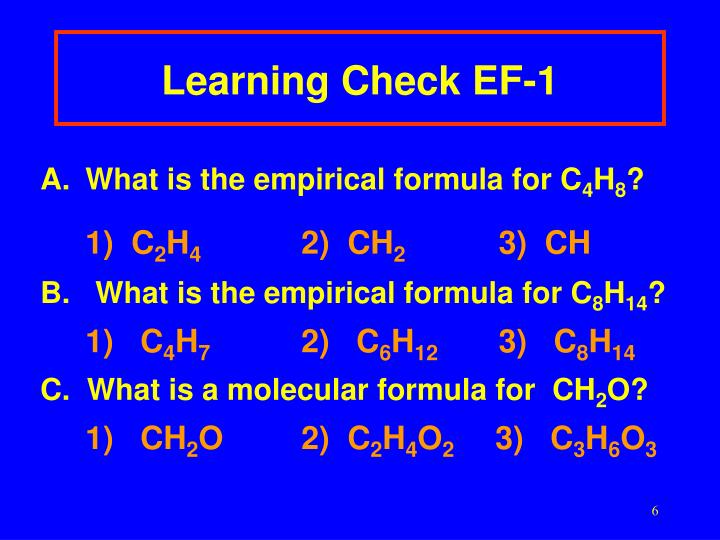 Learning Check EF-1