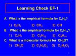 learning check ef 1