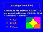 learning check ef 3