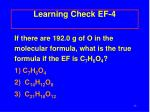 learning check ef 4