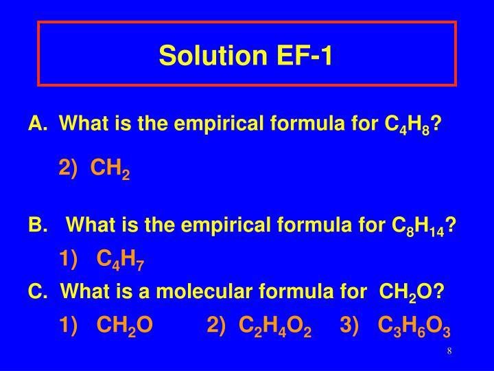 Solution EF-1