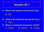 solution ef 1