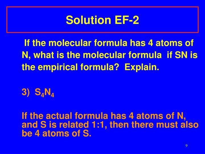 Solution EF-2