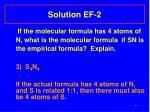 solution ef 2