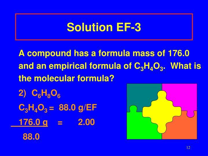 Solution EF-3