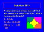 solution ef 3