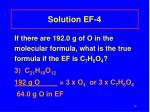 solution ef 4
