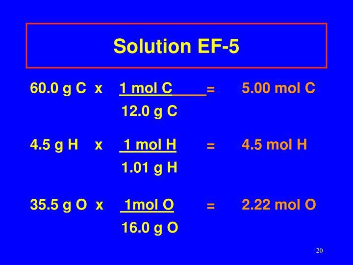 Solution EF-5
