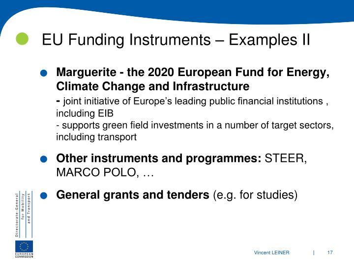 EU Funding Instruments – Examples II