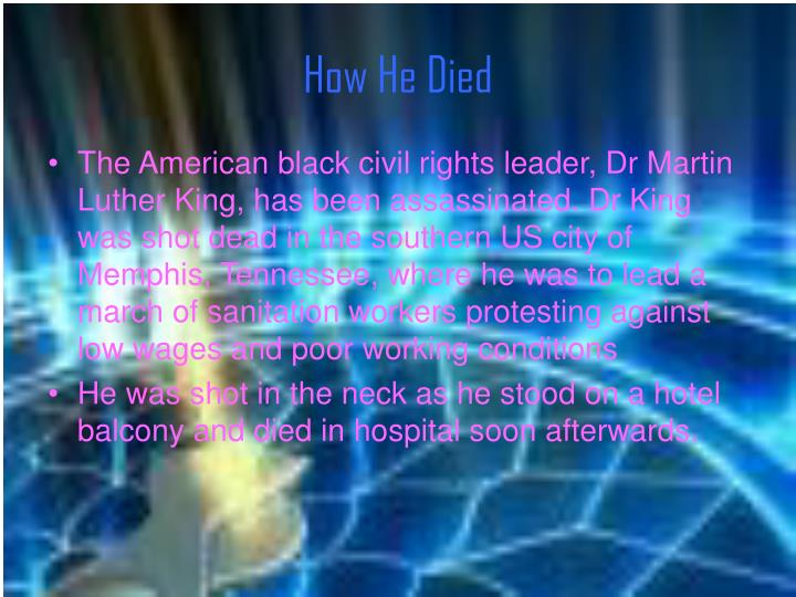 How He Died