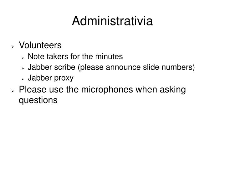 Administrativia