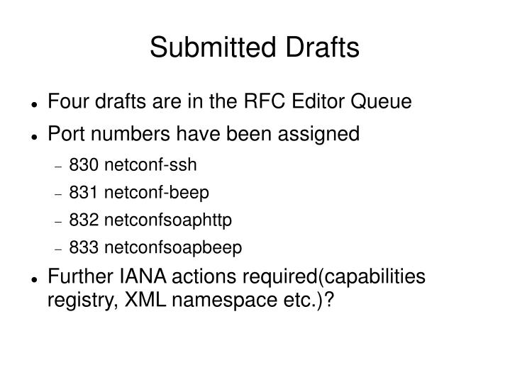 Submitted Drafts