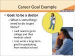 career goal example