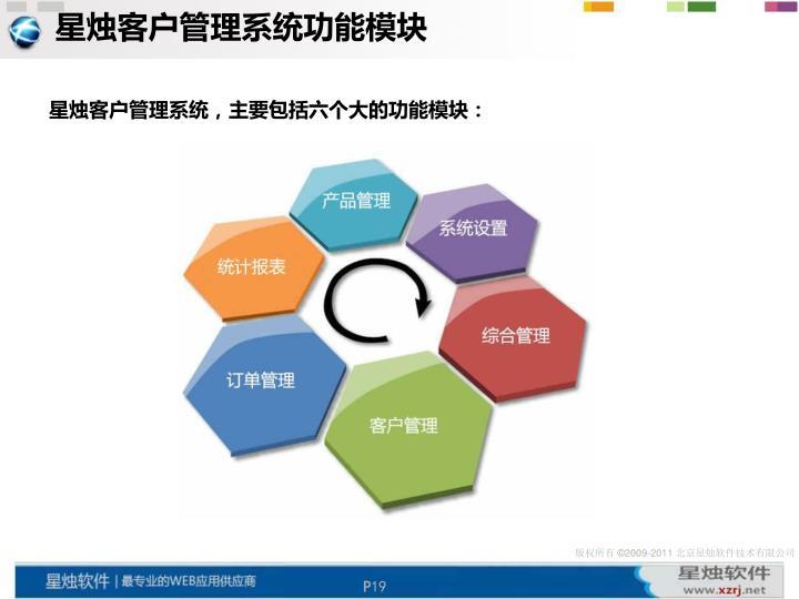 星烛客户管理系统功能模块