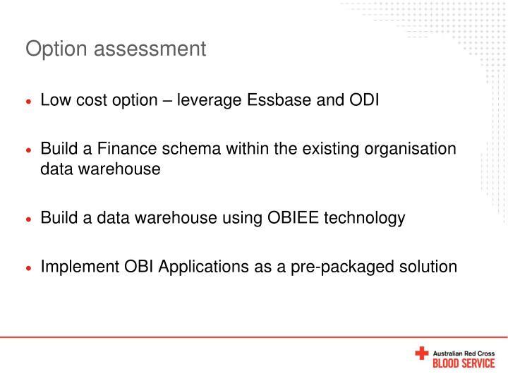 Option assessment