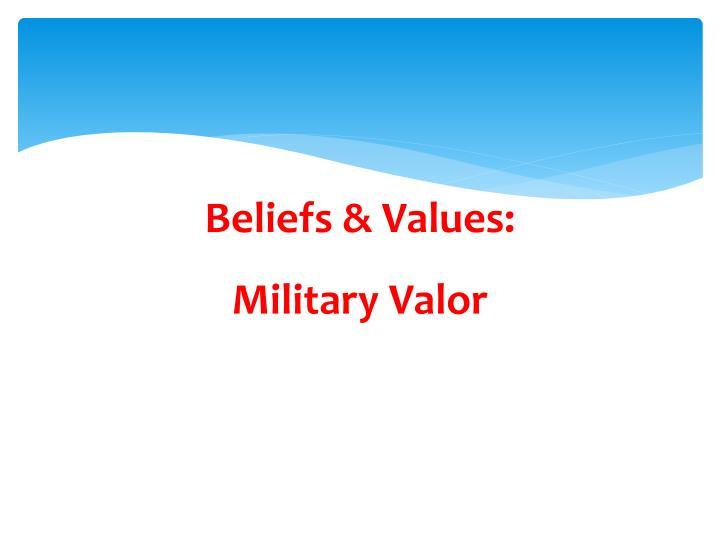 Beliefs & Values: