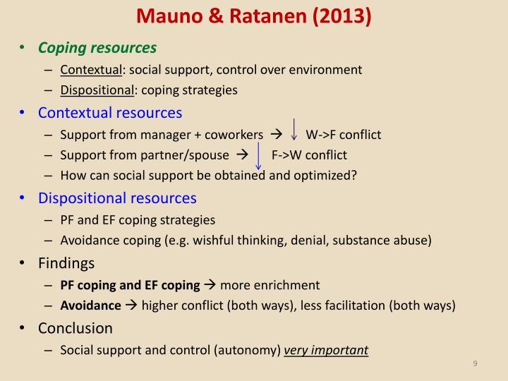 Mauno & Ratanen (2013)