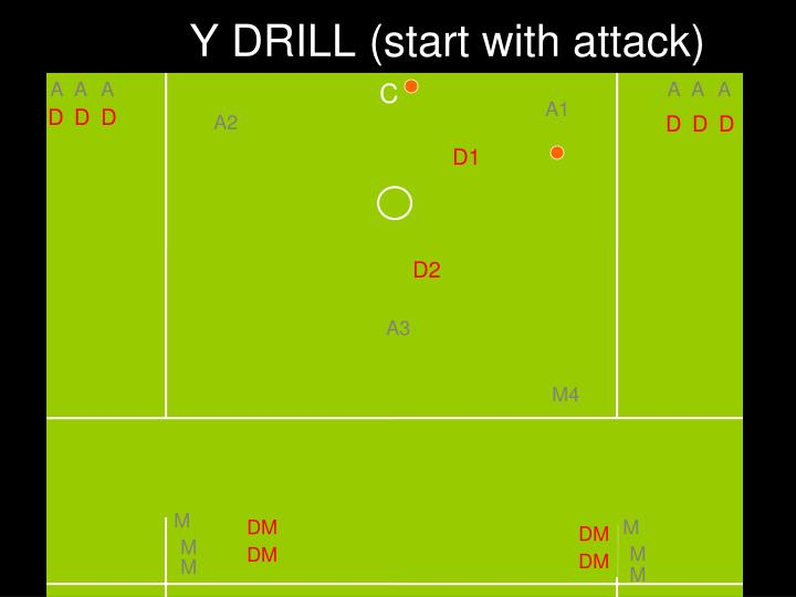 Y DRILL (start with attack)
