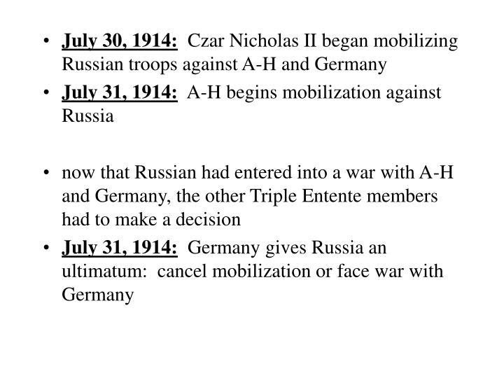 July 30, 1914:
