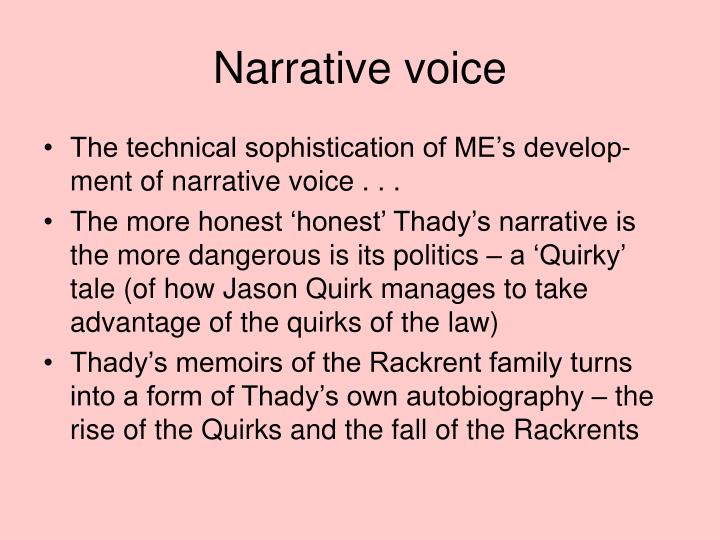 Narrative voice