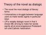 theory of the novel as dialogic1
