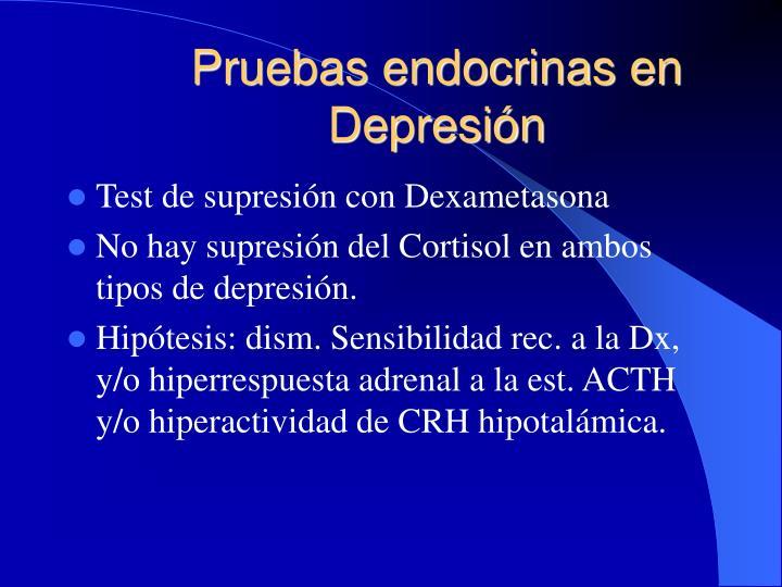 Pruebas endocrinas en Depresión