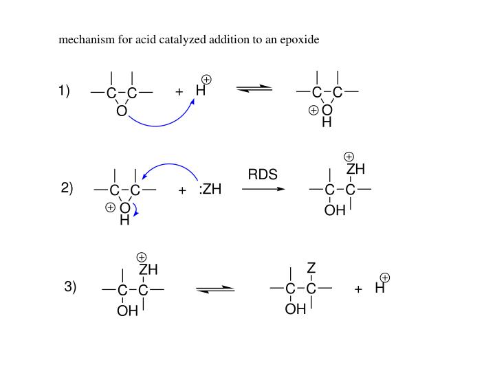 mechanism for acid catalyzed addition to an epoxide