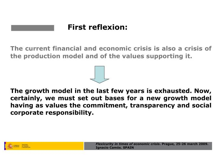 First reflexion: