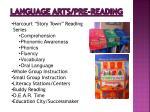 language arts pre reading