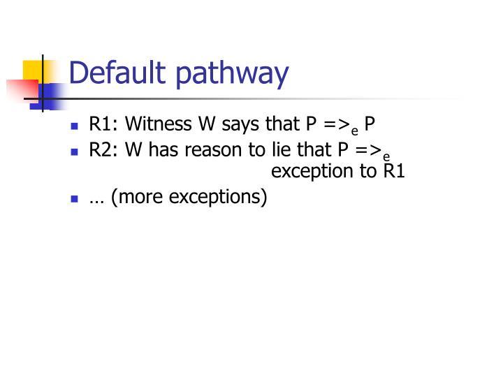 Default pathway