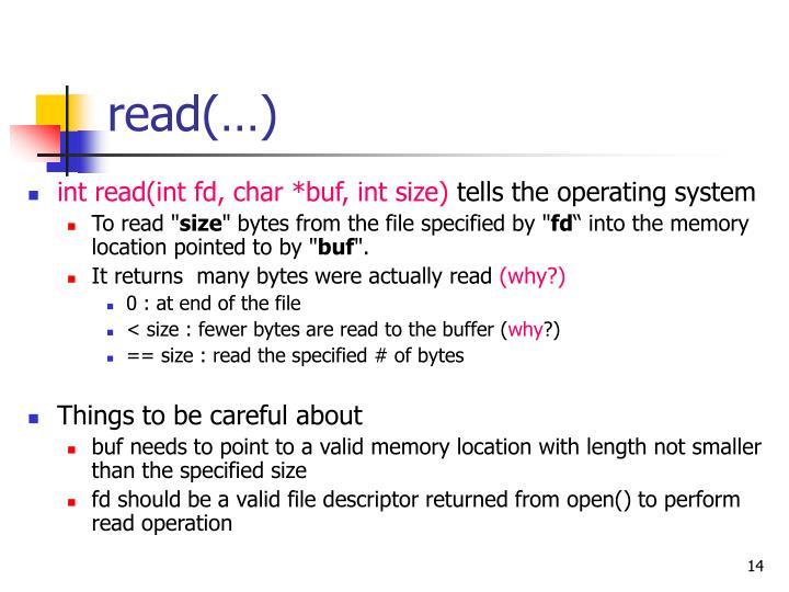 read(…)